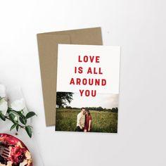Modern Holiday Photo Card   Minimalist Holiday   Hipster Christmas   Newlywed Christmas   Love Actually   Christmas Card   Custom Card