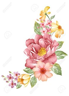 30859766-watercolor-illustration-flowers-in-simple-background--Stock-Illustration.jpg (941×1300)