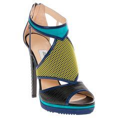 Jimmy Choo Lythe / Suede Platform Heels
