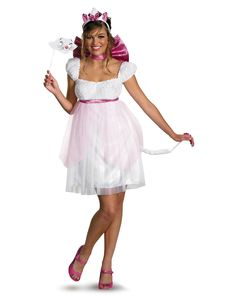 Disney Aristocats Sassy Marie Adult Womens Costume Shannon, you should be this for Halloween.