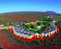 Sails in the Desert Ayers Rock  ... We stayed here in 1964 ... A brilliant resort ...