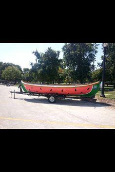 Watermelon boat!