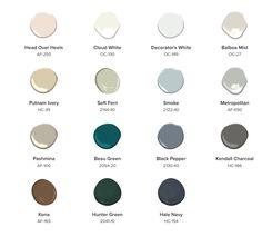 Most Harmonious Paint Colors: Color Trends by Benjamin Moore – Blackhawk Hardware Benjamin Moore Couleurs, Benjamin Moore Gray, Decorator White Benjamin Moore, House Color Schemes, House Colors, Dark Interiors, Colorful Interiors, Room Colors, Wall Colors