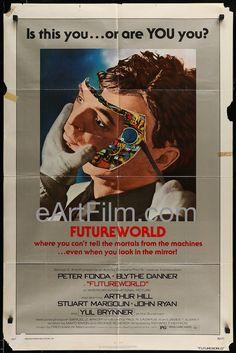 Happy Birthday #YulBrynner https://eartfilm.com/products/futureworld-peter-fonda-blythe-danner-yul-brynner-sci-fi-1976 #actors #acting #Broadway #theater #TheKingAndI #Westworld #Futureworld #TheMagnificent7 #movie #movies #poster #posters #film #cinema #movieposter #movieposters    Futureworld-Peter Fonda-Blythe Danner-Yul Brynner-Sci-Fi-1976