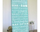 Lake House  Rules -Vintage Style- Typography Sign. $95.00, via Etsy.