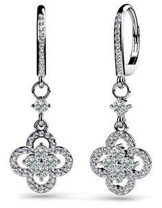 14k White-Gold, Diamond Clover Drop Earrings, 1.29 ct. (Color: GH, Clarity: VS) Anjolee, http://www.amazon.com/dp/B008TFL1N8/ref=cm_sw_r_pi_dp_ShjBqb1X5ED83