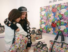 Sunny Lee Soonkyu of Girls' Generation #SNSD at LeSportsac pop up store with Ailee