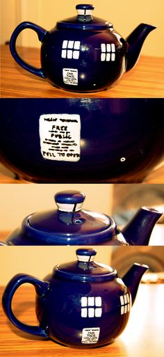Look, Tumblr. I was bored, and then, I decided to make a Tardis Teapot. And it was FUN!