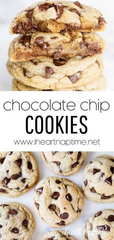 These cookies taste amazing and are super soft and chewy…just the way a chocolate chip cookie should be! They're perfectly crispy on the edges and are filled with sweet chocolate chips in every bite. Delicious Cookie Recipes, Most Delicious Recipe, Best Dessert Recipes, Yummy Cookies, Fun Desserts, Yummy Food, Favorite Cookie Recipe, Favorite Recipes, Best Chocolate Chip Cookie