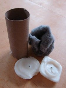 How to Make Homemade Fire Starters    cardboard toilet paper roll or paper towel roll    - dryer lint or cotton balls    - worn down candle stubs orcrayons    - natural twine