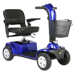 Mobility Scooters Companion II 4 Wheel Scooters - Blue -- This is an Amazon Associate's Pin. Click the image for detailed description on Amazon website.
