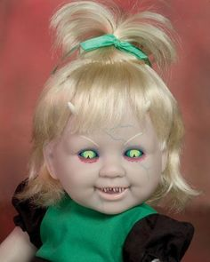 Why in the world would you buy a doll like this??? Your child would be traumatized for life..frickin creepy!!