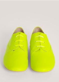 MM6 Maison Martin Margiela - Neon leather Oxfords | Lane Crawford