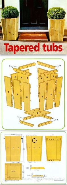 Planter Box Plans - Outdoor Plans and Projects   WoodArchivist.com #CedarWoodworkingProjects