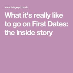 What it's really like to go on First Dates: the inside story