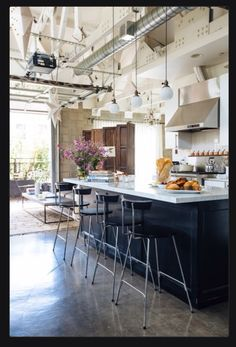 Joan McNamara's open-spaced kitchen