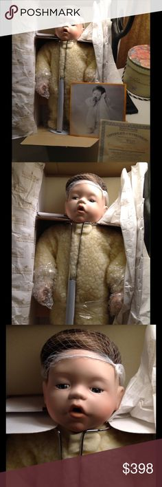 "Ashton-Drake ""Mommy I'm Sleepy"" After December 31, 1993 mold for this doll was broken, no more porcelain will ever be cast for this doll! Comes with certificate of Authenticity with it's certified number. Never removed from the box, in all the original packaging! Ashton Drake Other"