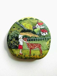 Beautiful, unusual and special Hand Painted rock with Acrylics and finished with Glossy varnish protection. Stone measures :8cm X 8cm All my rocks art painting are unique art. All art rocks will be packed carefully and shipped. Shipping: As soon as your order is confirmed, Your purchased