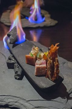 chicago82, Use rocks to plate seafood or pork belly.
