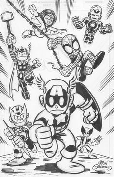 Avengers - Chris Giarrusso  http://www.facebook.com/chris.giarrusso