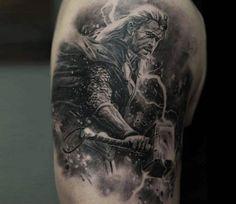 Thor tattoo by Dmitriy Samohin