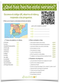 preterito perfecto Teaching Spanish, Words, Bullet Journal, Holidays, Summer, Truths, Spanish, Kids Bible Studies, Studying