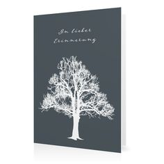 Trauerkarte Lebensbaum in Schiefer - Klappkarte hoch #Trauer #Trauerkarten https://www.goldbek.de/trauer/trauerkarten/trauerkarte-lebensbaum?color=schiefer&design=4321e