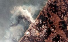 A satellite view of the Fukushima Nuclear Power plant after the massive earthquake and subsequent tsunami of March 2011