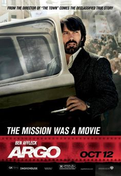 Argo - directed and starring Ben Affleck, its a true story about the extraction of U.S. Embassy employees from Iran. The movie won Best Picture this year for the Oscars.  It totally deserved it!