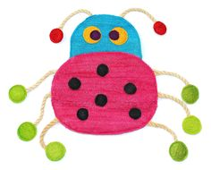 Eco-Loofah Original Play and Scratch Station cat Toy, Ladybug Design >>> Amazing product just a click away  : Cat toys