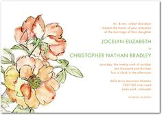 painted wedding invites
