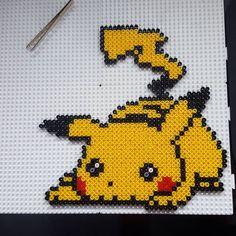 Pikachu perler beads by getoji