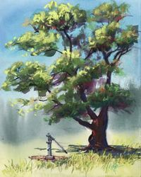 This site it cool; lots of step by step instructions on painting nature.