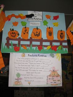 Classroom Fun: Five Little Pumpkins Poetry Freebie