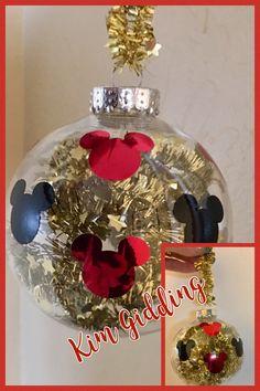Mickey Christmas ornament:):):) Mickeys Christmas Party, Minnie Mouse Christmas, Disney Christmas Ornaments, Christmas Holidays, Christmas Bulbs, Christmas Crafts, Christmas Centerpieces, Christmas Decorations, Mickey Decorations