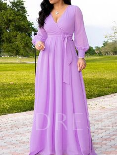 Solid Deep V Neck Long Sleeve Belted Maxi Dress – Prilly plus size dress maxi dresses maxi skirt outfit maxi dress outfit maxi dress summer maxi dress casual long dress casual summer dress outfit Long African Dresses, Latest African Fashion Dresses, Latest Fashion, Fashion Today, Cheap Fashion, Trendy Fashion, Fashion Shoes, Women's Fashion, Fashion Outfits