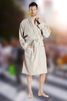 e7f05c4b3d Pure Cashmere Knee Length Robe for Men