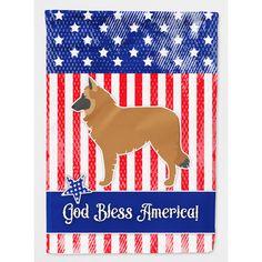 Caroline's Treasures Patriotic USA Belgian Shepherd 2-Sided Garden Flag