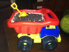 For my sons first birthday it was all about dirt and dump trucks. We took a brand new dump truck and filled it with dirt pudding and gummy worms. To top it off we used a shovel instead of a spoon!