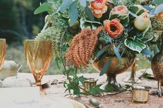 Amber + Bronze + Gold Wedding Inspiration