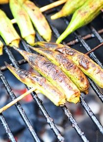 Grilled Okra Recipe | ©addapinch.com