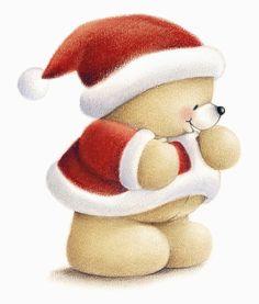 Oso con traje de papa noel - Navidad