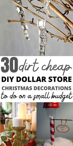 I love decorating for Christmas and the home decor stores make me want to decorate my house like out of a magazine. But I can't afford those beautiful Christmas decor ideas on a budget. These cheap Dollar Store DIY Christmas decorations are exactly what I need to decorate my house DIY style. Definetly pinning this for later! Mason Jar Christmas Gifts, Christmas Gifts For Coworkers, Dollar Tree Christmas, Dollar Tree Crafts, Family Christmas, Christmas Crafts, Christmas Decorations, White Christmas, Unique Gifts For Mom