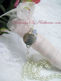 Love Bridal Bouquet Charm by Keepsakes By Katherine,