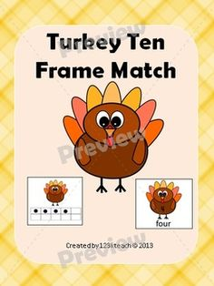 Students will love matching ten frames to numbers and #number words with these adorable #turkeys. There are a couple of recording sheets to go along with this fun activity. Happy #Thanksgiving
