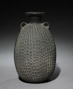 Darkware Vessel, late 1400s Peru, North Coast, Chimú style (900-1470)