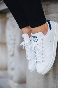 official photos 9677e bb9b1 adidas Originals Stan Smith Flade Sko, Modesko, Hvide Sneakers, Adidas Sko,  Nikesko
