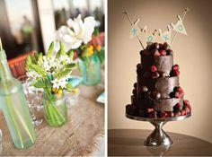 Burlap and Mason Jars Wedding