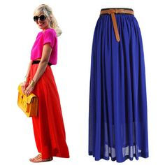 chiffon long skirt 2013 new,tulle skirts women high waist maxi, pleated Skirt Free Shipping-inSkirts from Apparel & Accessories on Aliexpress.com