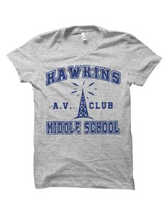 577e855bfcb78 Hawkins Middle School AV Club Stranger of Things T-Shirt   Gift   Bday